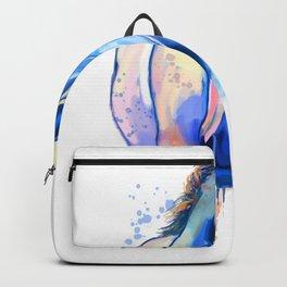 Horse Watercolor, Horse Painting, Horse Portrait, Horse art, Horse illustration Backpack