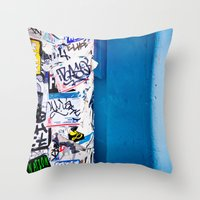 urban Throw Pillows featuring Urban by Maite Pons