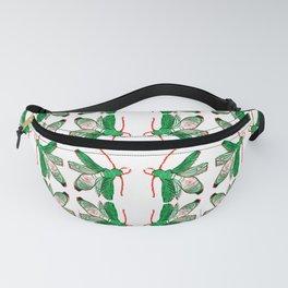 Emerald Beetle Pattern Fanny Pack