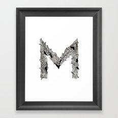 M M  Framed Art Print