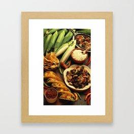 Mexican Food Framed Art Print