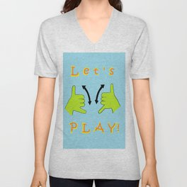 ASL Let's PLAY! Unisex V-Neck