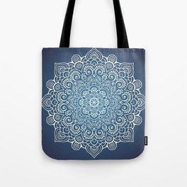 Mandala dark blue Tote Bag
