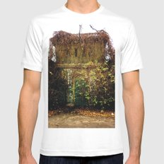 Nature finds the way inside... White Mens Fitted Tee MEDIUM
