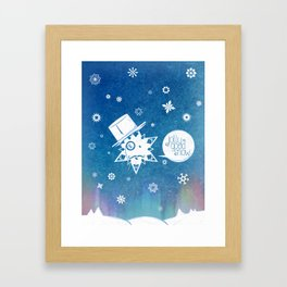Jolly Good Snow Framed Art Print