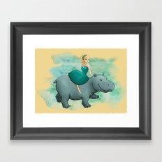 Lovely Hippo Framed Art Print