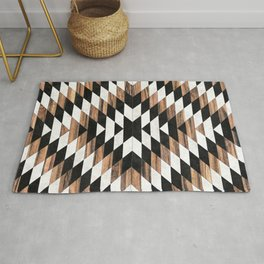 Urban Tribal Pattern No.13 - Aztec - Concrete and Wood Rug