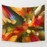 christmas tree Wall Tapestries featuring Christmas Tree by Paul Kimble