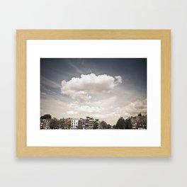 Amsterdam Clouds Framed Art Print