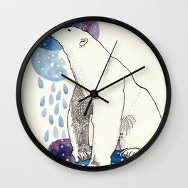 Contemplative Bear Wall Clock