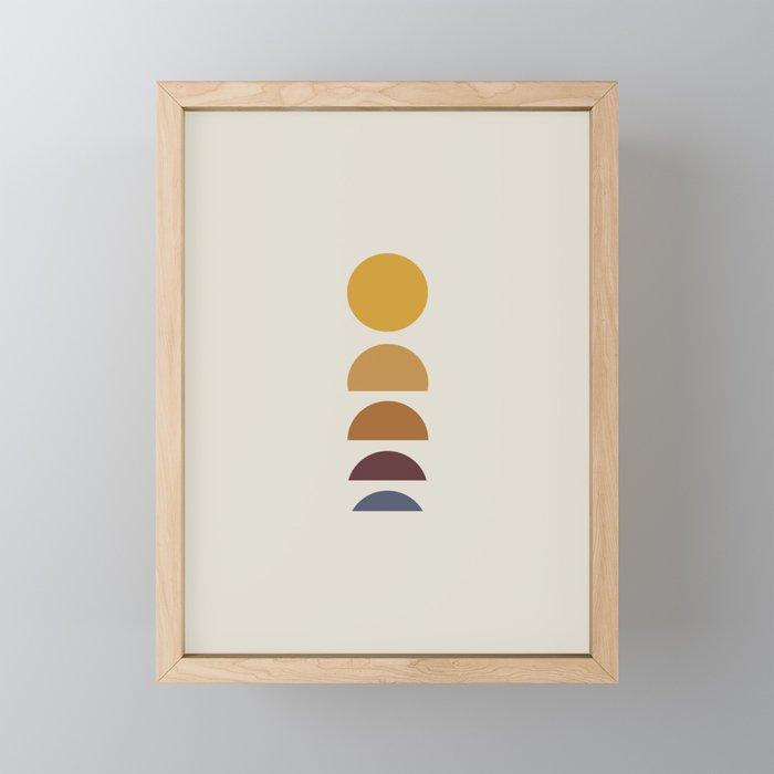 Minimal Sunrise / Sunset Framed Mini Art Print