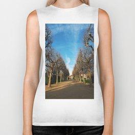 Bare trees alley Biker Tank