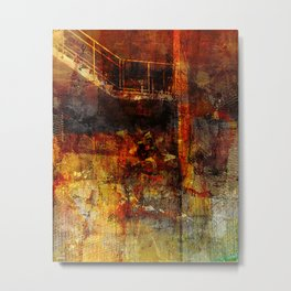 Stairs to the basement Metal Print