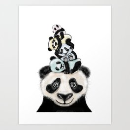 Panda Totæm Art Print