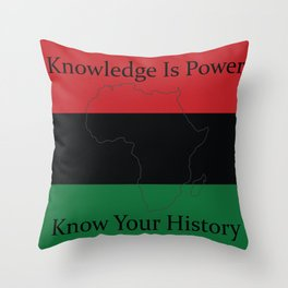 RBG/Pan-African Knowledge Is Power Throw Pillow