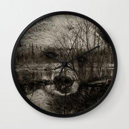 Bear Pond Wall Clock