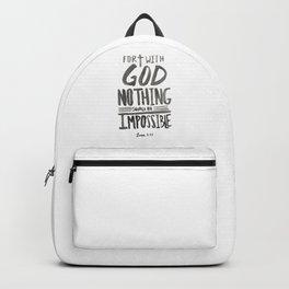 Luke 1:37 Backpack