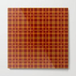 Tartan - Orange Brick Red Metal Print