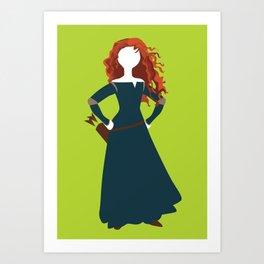 Merida from the Brave Art Print