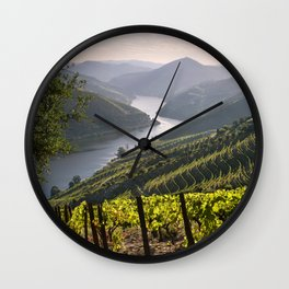 Vineyards along the Douro Valley, Portugal Wall Clock
