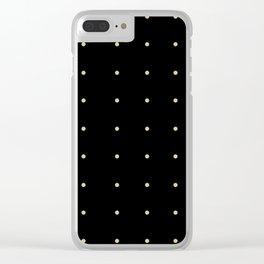 Black & Cream Polka Dots Clear iPhone Case