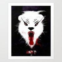 A White Lion. 白狮子 Art Print