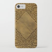 book cover iPhone & iPod Cases featuring Vintage Ornamental Book Cover by Nicolas Raymond