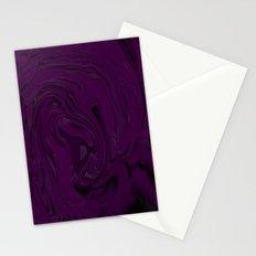 black and purple swirls  Stationery Cards