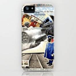 COLLAGE: Trains iPhone Case