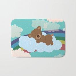 Teddy Bear and clouds Bath Mat