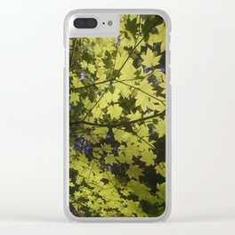 Maple Leaves Clear iPhone Case