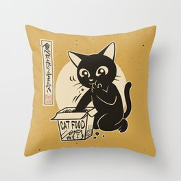 Can't stop eating Throw Pillow