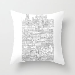 El retiro (Madrid, Spain) Throw Pillow