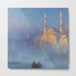 Constantinople (Istanbul) Süleymaniye Mosque in Fog by Ivan Aivazovsky Metal Print