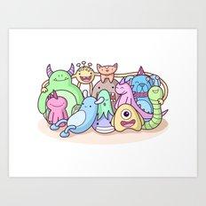 Monster Family Photo Art Print