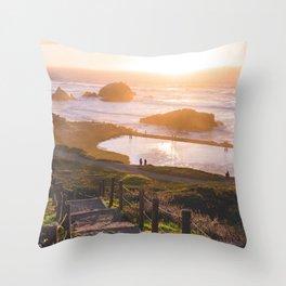 Sunset At Sutro Baths - San Francisco, CA Throw Pillow