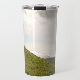 Dramatic summer mountain cloudscape Travel Mug