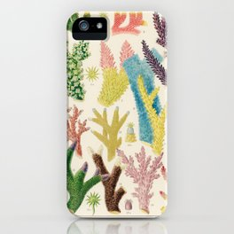 Great Barrier Reef Corals by William Saville-Kent, 1893 iPhone Case