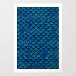 Mermaid scales iridescent sparkle Art Print
