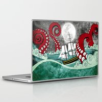 kraken Laptop & iPad Skins featuring Kraken by Beth Naeyaert