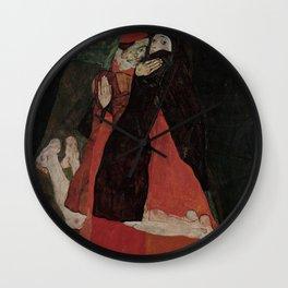 Egon Schiele - Cardinal and Nun Wall Clock