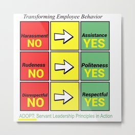 Stop Workplace Bullying Project: Employee Behavior Metal Print
