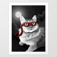 Mr. Meowgi Art Print