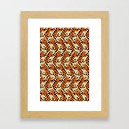 Tiger Conga pattern Framed Art Print