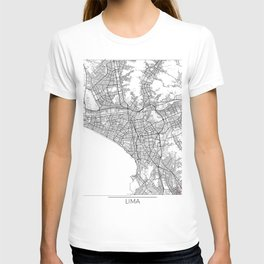 Lima Map White T-shirt