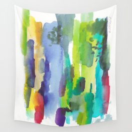 180812 Abstract Watercolour Expressionism 11  Colorful Abstract   Modern Watercolor Art Wall Tapestry