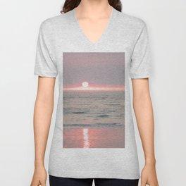sunset on the beach II Unisex V-Neck