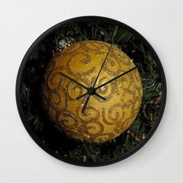 Sparkling Gold Swirls Wall Clock