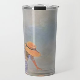 Collecting Sea Shells Travel Mug