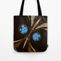skyrim Tote Bags featuring centurion by Patrick.the.human